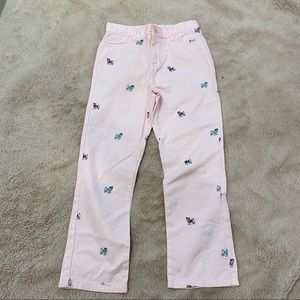 Hartstrings pink pants with puppy print